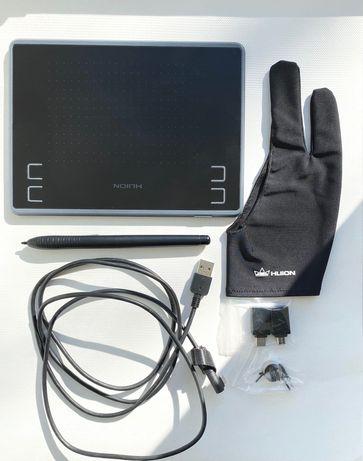 800грн Inspiroy Huion H430P Графический планшет + перчатка
