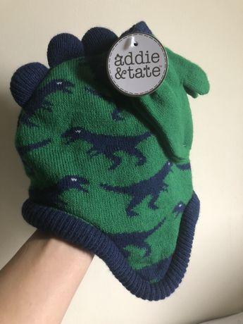 Шапка на флісі з рукавичками