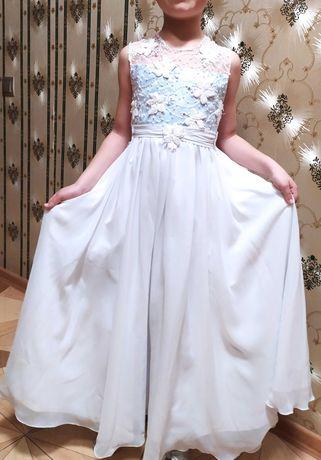 Нарядное, выпускное платье для садика в греческом стиле