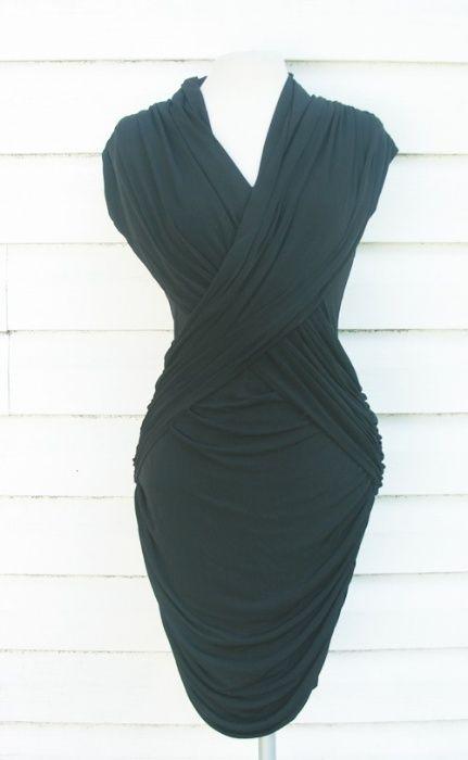 czarna elegancka dopasowana sexy sukienka french connection Sławno - image 1