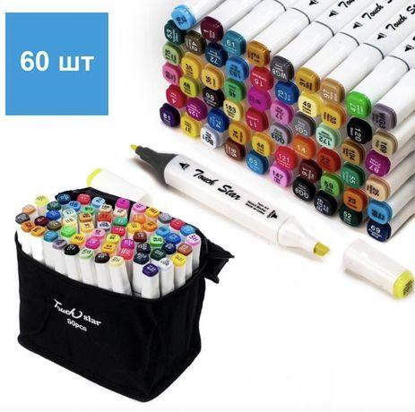 маркеры для рисования TouchRaven (спиртовая основа) 36,48,60,80 шт