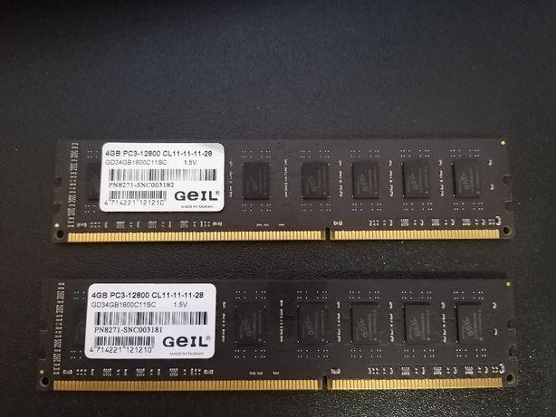Pamięć GeIL Dragon,DDR3, 2x4GB (8GB), 1600MHz, CL11 (GD34GB1600C11SC