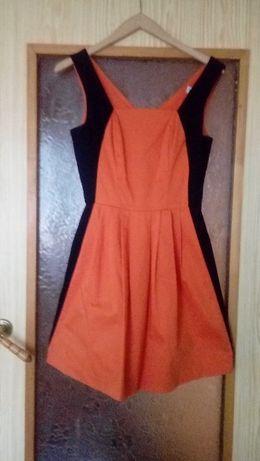 Pomarańczowa sukienka wesele sylwester M 38