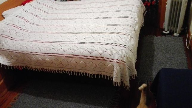 Colcha cama de casal de crochet