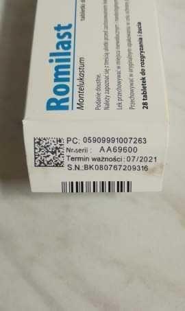 Romilast 4 mg 16 szt