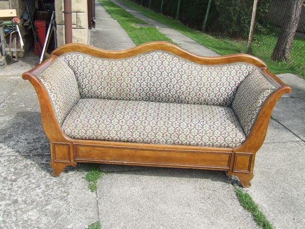 Stara orzechowa sofa biedermeiera