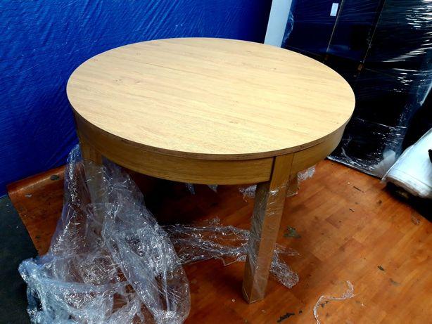 Stół VOX Simple, okragły, rozkładany, dąb.