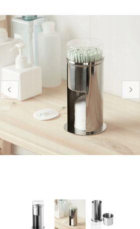 IKEA kalkgrund  NOWY pojemnik na waciki ze stali nierdzewnej