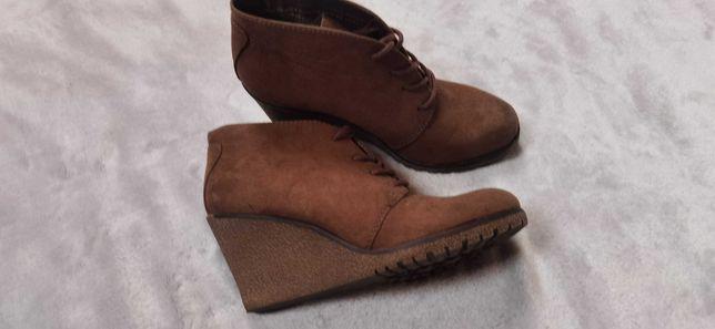 Botki buty jesienne Grecland deichmann 38