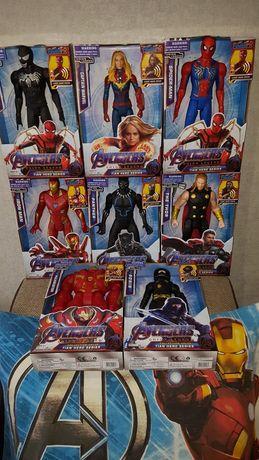 Супергерои Марвел(30см)Тор,Спайдер,Ронин,Капитан Марвел,Тор,Пантера...
