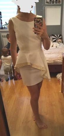 Sukienka z baskinką na wesele ślub