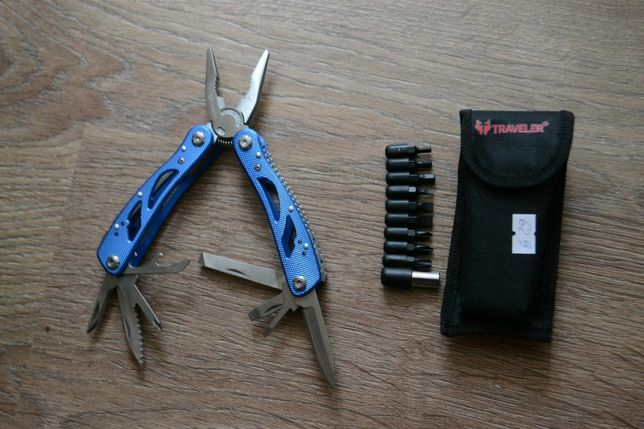 Нож многофункциональный мультитул комплект бит