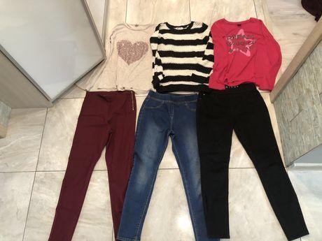 Spodnie , bluzki 152