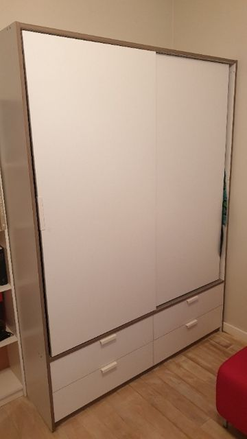 Szafa ubraniowa, wolnostojąca, biała, IKEA