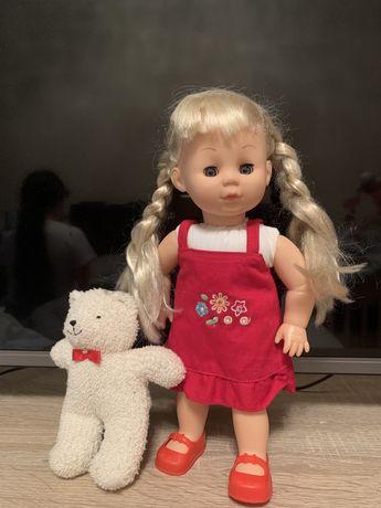 Кукла СССР с мишкой