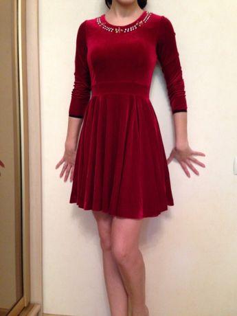 Платье бархатное велюровое Valentino