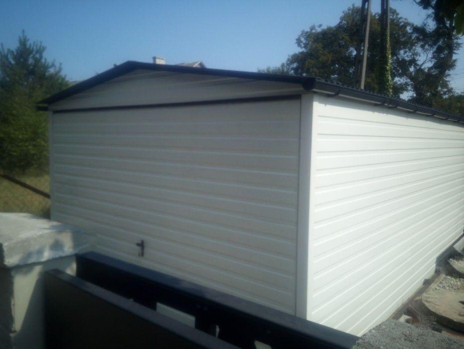 Produkcja garaży blaszanych blaszaków wiat domków garaże Biała Bełchatów - image 1