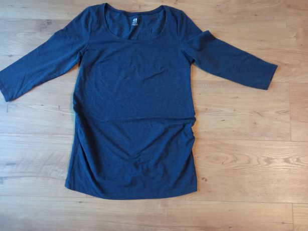 Bluzka ciążowa ciemnoniebiesko-szara H&M rozmiar S