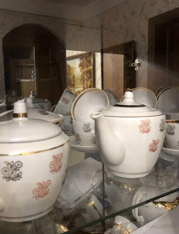 Фарфоровый чайный Сервис барановского фарворового завода антиквариат