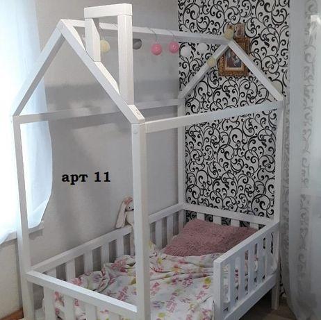 Кровать домик массив ольхи сосны.Будиночок ліжко дитяче.Дом.арт 14