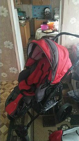 Детская коляска 2 в 1 Angelina Discovery красная