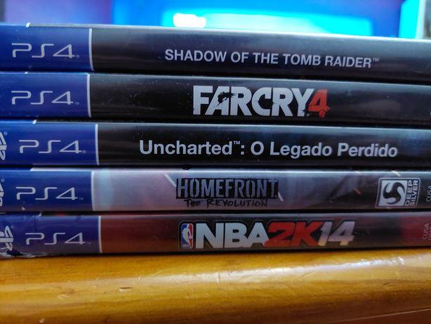 Jogos PlayStation 4 -(troco por comando original ps4)