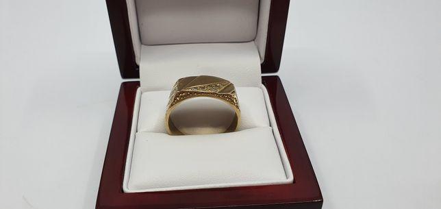 Złoty sygnet 333 rozmiar 27 waga 7.22 g