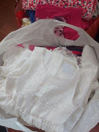 MEGA PAKA ubrań dla dziewczynki rozmiar od 80 do 98/104/110