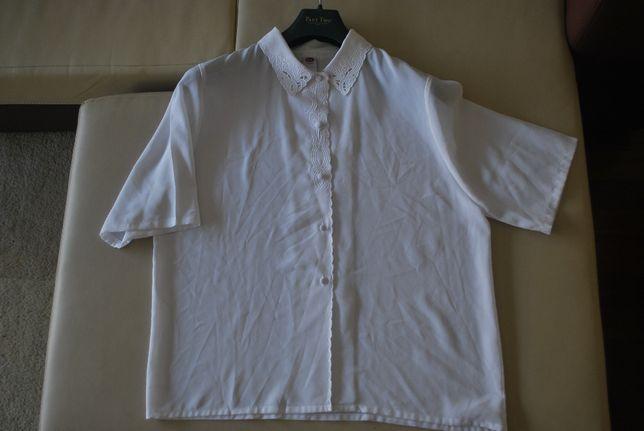 Blusa Seda Branca Bordada da C & A Tamanho 40 (nova)
