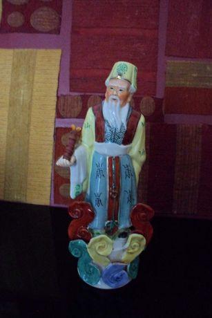 Bonecos em cerâmica com decoração arte oriental Chinesa