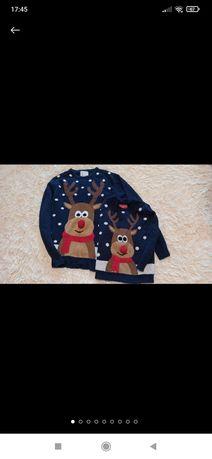 Новогодний свитер Family look размер 116