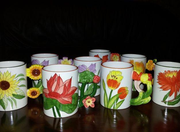 """продам: Чашка """"Цветы"""", кружка, набор чашек с цветами."""