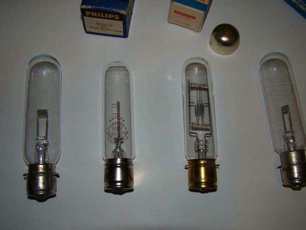 Żarówki do starych projektorów na taśmy celuloidowe.