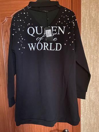 Туника-платье чёрное