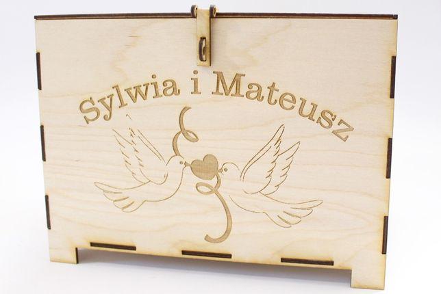 Skrzynka, pudełko na koperty - Ślub - grawer