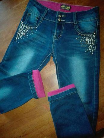 Spodnie dżinsy r. 146
