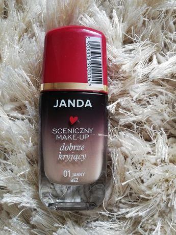 Podkład Janda Sceniczny Make-up, dobrze kryjący.