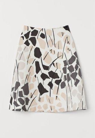 Сатиновая новая юбка h&m