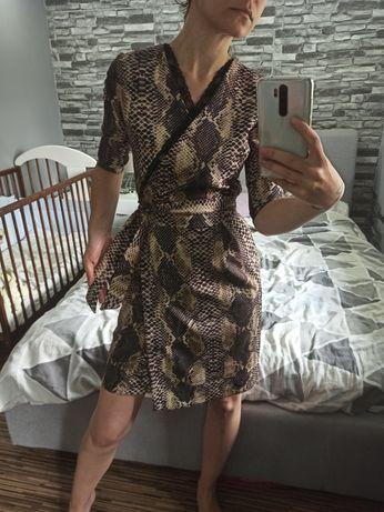 Sukienka koktajlowa imprezowa Mosquito S wężowy wzór