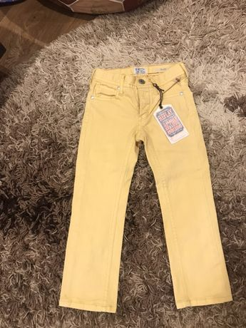 Желтые джинсы. Штаны. Скини.