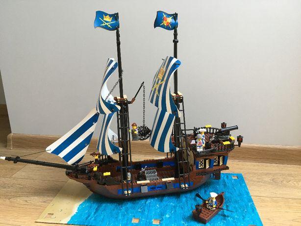 Duży statek piracki z klocków jak LEGO