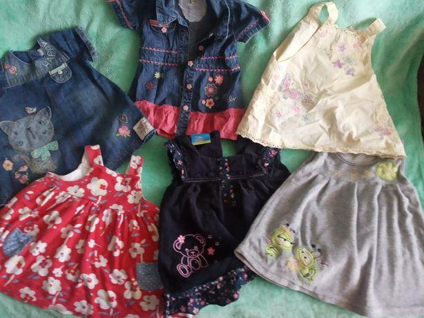 Комплект платьев на малышку от 3месяцев