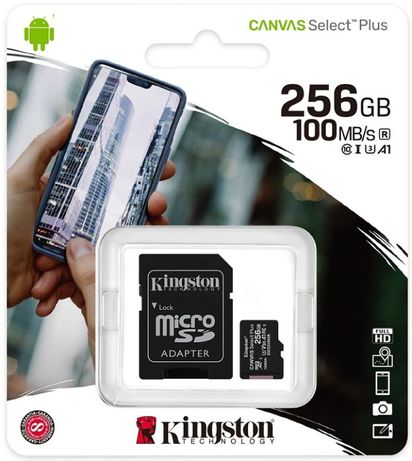 Cartão Kingston Micro SD 256GB Classe 10