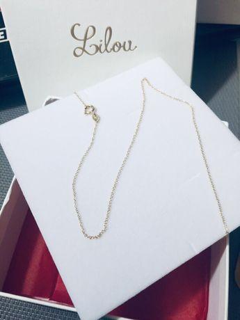 Złoty łańcuszek Lilou 50 cm
