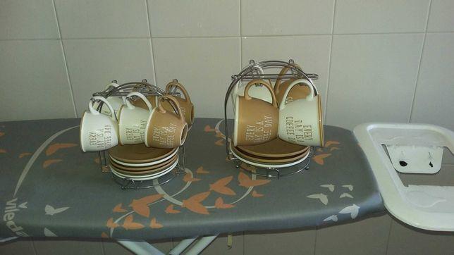 conjunto de xícaras para café e cafezinho