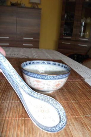 chińska miseczka PRL ,porcelana ryżowa smok