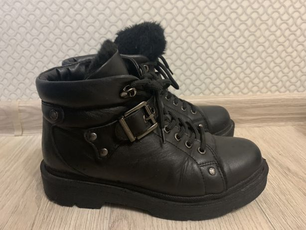 Ботинки зимние кожа Италия
