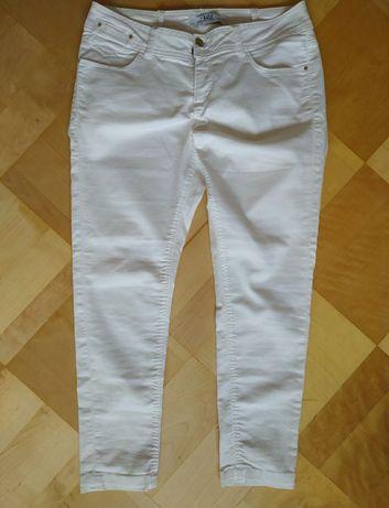 Białe spodnie L 40 damskie clockhouse rybaczki
