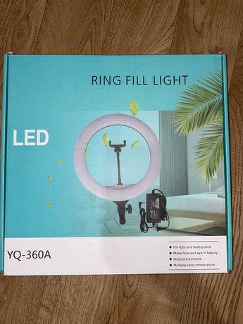 Профессиональная кольцевая лампа YQ-360А . Штатив 2м, в комплекте.