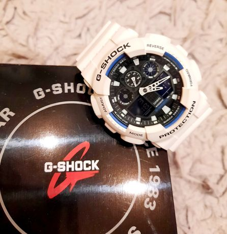Casio G-Shock GA100B Biały, ORYGINAŁ 33m gwarancji